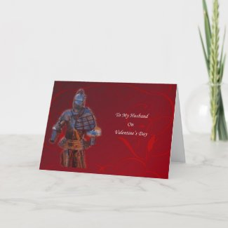 Knight's Armour Valentine's Day For Husband Card