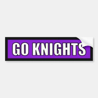 Knights - Black Purple White Car Bumper Sticker