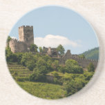 "Knight&#39;s Castle in Wachau Austria Coaster<br><div class=""desc"">Landscape photograph of the ruins of a knight&#39;s castle in the lush green majestic Wachau Valley,  Austria.</div>"