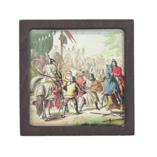 Knights Duelling on Foot in a Tournament, plate 1 Gift Box