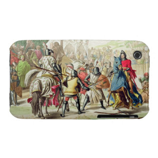 Knights Duelling on Foot in a Tournament, plate 1 iPhone 3 Case