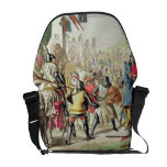 Knights Duelling on Foot in a Tournament, plate 1 Messenger Bag