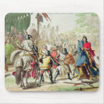 Knights Duelling on Foot in a Tournament, plate 1 Mouse Pad