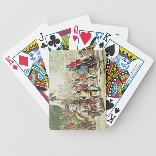 Knights Duelling on Foot in a Tournament, plate 1 Bicycle Playing Cards