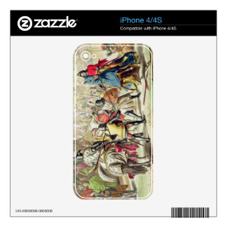 Knights Duelling on Foot in a Tournament, plate 1 Decals For The iPhone 4