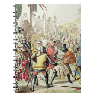 Knights Duelling on Foot in a Tournament, plate 1 Spiral Notebook