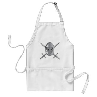 Knight's helmet and Crossed swords Vector Adult Apron