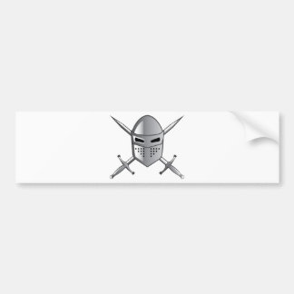 Knight's helmet and Crossed swords Vector Bumper Sticker