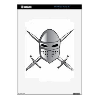 Knight's helmet and Crossed swords Vector iPad 2 Decal