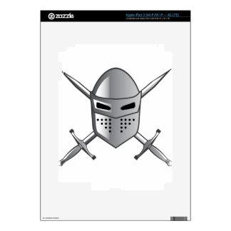 Knight's helmet and Crossed swords Vector iPad 3 Decals