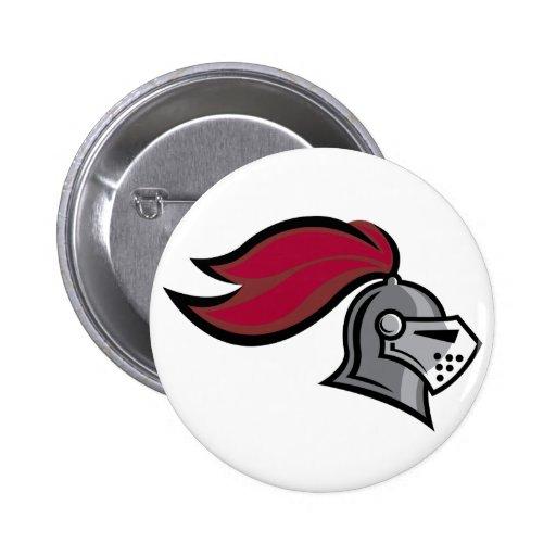 Knight's Helmet Pinback Button