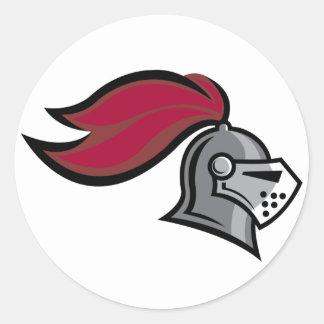 Knight's Helmet Round Sticker