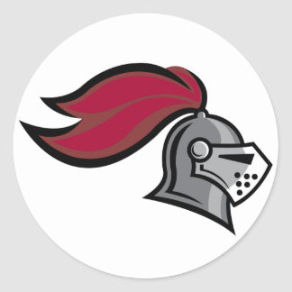 Knight's Helmet Classic Round Sticker