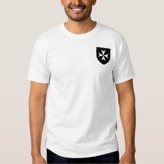 Knights Hospitaller Black Shield Shirt