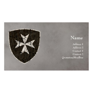 Knights Hospitaller Cross, Distressed Double-Sided Standard Business Cards (Pack Of 100)