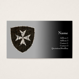Knights Hospitaller Cross, Distressed Business Card