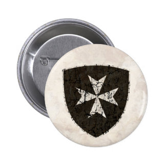 Knights Hospitaller Cross, Distressed Button