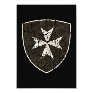 Knights Hospitaller Cross, Distressed Card