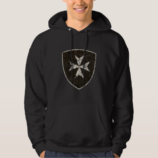 Knights Hospitaller Cross, Distressed Hoodie