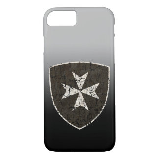 Knights Hospitaller Cross, Distressed iPhone 7 Case