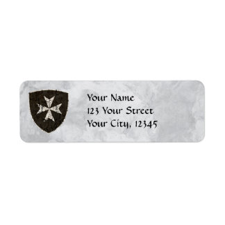 Knights Hospitaller Cross, Distressed Return Address Label