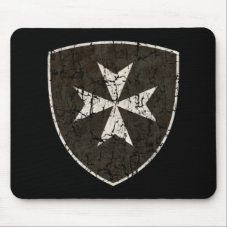 Knights Hospitaller Cross, Distressed Mouse Pad