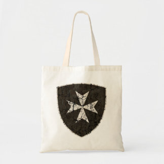 Knights Hospitaller Cross, Distressed Tote Bag