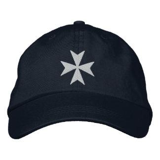 Knights Hospitaller Maltese Cross Embroidered Baseball Hat