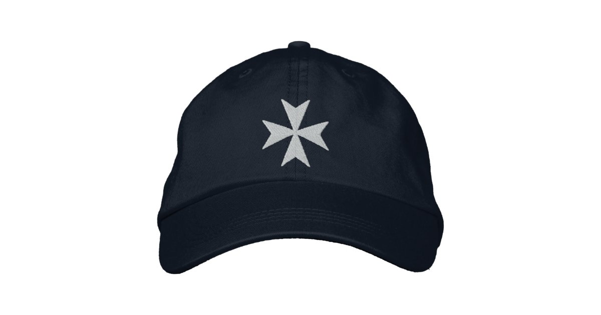 Knights Hospitaller Maltese Cross Embroidered Baseball Hat