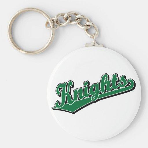 Knights in Green Basic Round Button Keychain
