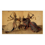Knights jousting Double-Sided standard business cards (Pack of 100)
