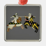 KNIGHTS JOUSTING CHRISTMAS TREE ORNAMENTS
