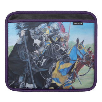 knights jousting on horses historic art sleeve for iPads