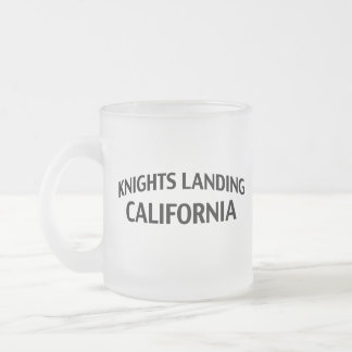 Knights Landing California 10 Oz Frosted Glass Coffee Mug
