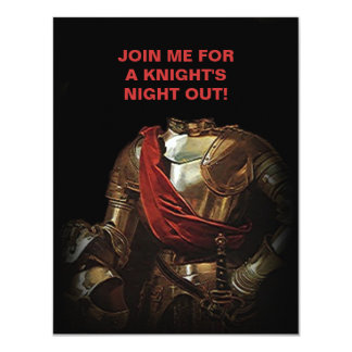 KNIGHT'S NIGHT OUT OUTING INVITATION-CUSTOMIZE CARD