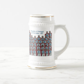Knights of Portugal - White Beer Stein