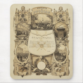 Knights of Pythias by James Fuller Queen Mouse Pad