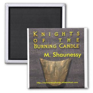 """""""Knights of the Burning Candle"""" 2 Inch Square Magnet"""
