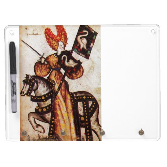 KNIGHTS OF THE GOLDEN FLEECE ,PRINCESS PENTHESILEA DRY ERASE BOARD WITH KEYCHAIN HOLDER