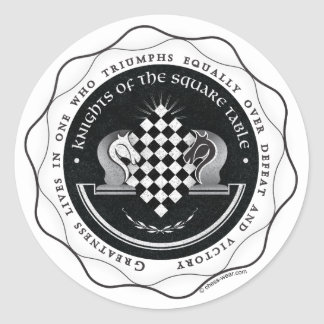 Knights of the Square Table - Greatness Quote Classic Round Sticker