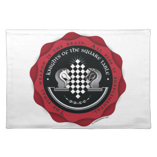 Knights of the Square Table in Red Placemat