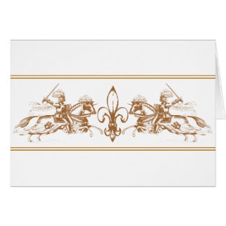 knights on horses greeting cards