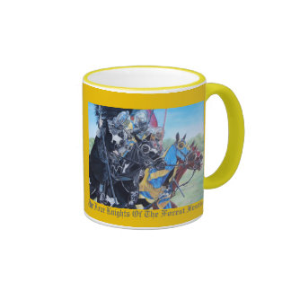 Knights on horses historic realist art mug