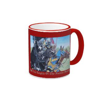 Knights on horses historic realist art coffee mug