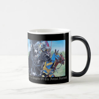 Knights on horses historic realist art 11 oz magic heat Color-Changing coffee mug
