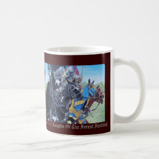 Knights on horses historic realist art classic white coffee mug