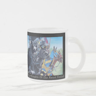 Knights on horses historic realist art 10 oz frosted glass coffee mug