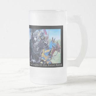 Knights on horses historic realist art beer mugs