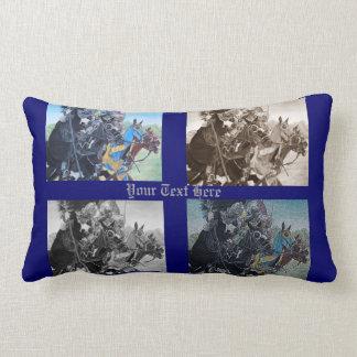 Knights on horses historic realist art pillows