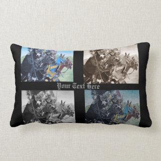 Knights on horses historic realist art pillow
